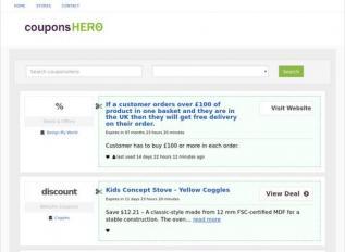 SEO rapport voor couponshero.com